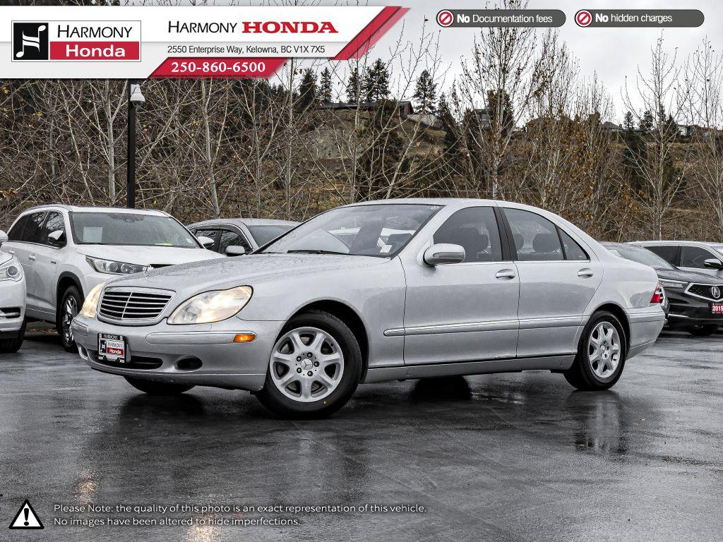 Pre-Owned 2001 Mercedes-Benz S-Class - BC VEHICLE - NON SMOKER - LOW KM - SUNROOF - NEW TIRES - LEATHER INTERIOR